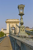 Chain Bridge in Budapest, Hungary, Europe Royalty Free Stock Image