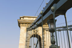 Chain Bridge in Budapest, Hungary, Europe Stock Photos