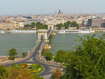 Chain Bridge in Budapest, Hungary, Europe Royalty Free Stock Images