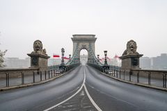 The Chain Bridge in Budapest, Hungary, Europe. The historical Chain Bridge in Budapest, Hungary, Europe royalty free stock images