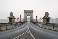 The Chain Bridge in Budapest, Hungary, Europe. The historical Chain Bridge in Budapest, Hungary, Europe royalty free stock photography