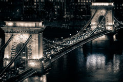 Chain bridge in Budapest, Hungary, Europe. Royalty Free Stock Photo