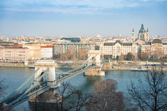 Chain bridge in Budapest, Hungary, Europe. Stock Photography