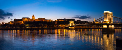 Chain bridge in Budapest, Hungary, Europe. Stock Image