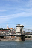 Chain bridge Budapest Hungary Royalty Free Stock Photo