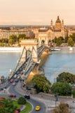 Chain bridge in Budapest, Hungary Stock Photography
