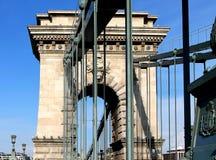 Chain Bridge in Budapest, Hungary Royalty Free Stock Photos