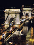 Chain bridge in Budapest Stock Photos