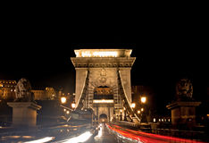 Chain Bridge, Budapest, Hungary Royalty Free Stock Images