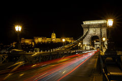 Chain bridge in Budapest stock image
