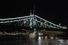 Chain Bridge, Budapest, Hungary, night Royalty Free Stock Photography