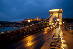 Chain bridge Budapest Hungary Royalty Free Stock Images
