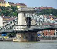Chain Bridge, Budapest, Hungary Stock Photos