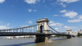 Chain Bridge Budapest Hungary Royalty Free Stock Photography