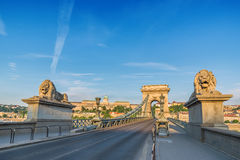Chain bridge - Budapest - Hungary Stock Photo