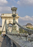 Chain Bridge in Budapest, Hungary. Royalty Free Stock Images