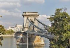 Chain Bridge in Budapest, Hungary. Stock Images