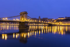 Chain Bridge in Budapest, Hungary Royalty Free Stock Photography