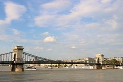 Chain Bridge of Budapest Stock Photos