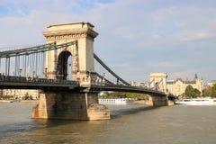 Chain Bridge of Budapest Stock Photo