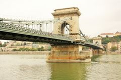 Chain Bridge of Budapest Royalty Free Stock Photo