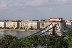 Chain bridge Budapest landmark Stock Image