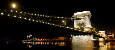 Chain Bridge of Budapest by night Stock Photo