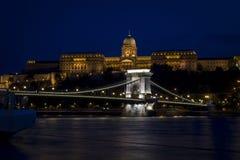 Chain Bridge in Budapest. Night Chain Bridge in Budapest Stock Photo