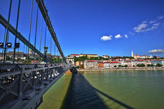 Chain Bridge Budapest Stock Images