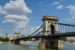 Chain bridge, Budapest. Chain bridge over Danube in Budapest, Hungary stock image