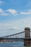 Chain Bridge. Budapest, Chain Bridge on a sunny day royalty free stock images