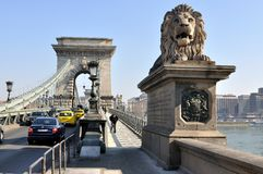 Chain Bridge, Budapest Stock Image