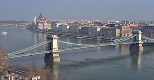 Chain Bridge, Budapest Stock Photography