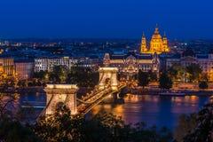 Chain Bridge, Budapest Stock Images