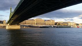 Chain Bridge Budapest Royalty Free Stock Photos