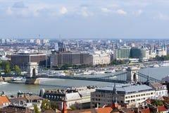 Chain Bridge in Budapest Stock Image