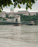 Chain Bridge and Castle, Budapest Royalty Free Stock Photos