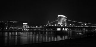 Chain Bridge. The Chainbridge crossing the Danube river, Budapest, Hungary Stock Image