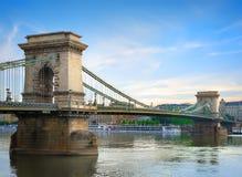 Chain bridge on Danube royalty free stock images