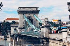 Chain Bridge and Danube River, Budapest Royalty Free Stock Photo