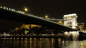 Chain Bridge. It is famous Chain Bridge which it is connecting Buda and Pest together Stock Photography