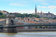 Chain Bridge and Fisherman Bastion Royalty Free Stock Image