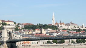 Chain bridge and Fisherman bastion Royalty Free Stock Photos