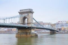Chain bridge, Hungary Royalty Free Stock Images