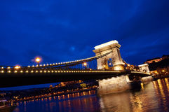 Chain Bridge, Hungary. Famous chain bridge in Budapest, Hungary Royalty Free Stock Photography
