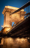 Chain Bridge at night. Budapest royalty free stock image