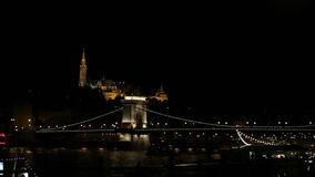 Chain bridge by night Stock Photography