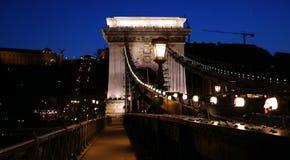 Chain Bridge. Night scene of historical Chain Bridge in Budapest city centre, Hungary Stock Photography