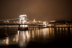 Chain bridge night Royalty Free Stock Photography