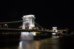 Chain Bridge over Danube river, Budapest cityscape Royalty Free Stock Image